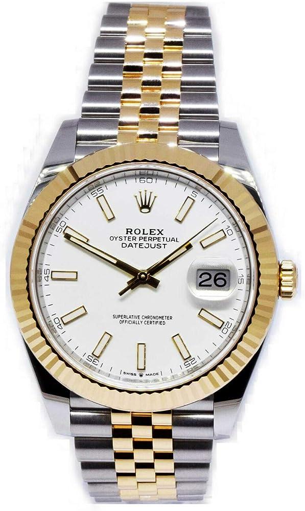 Rolex orologio da uomo in  oro giallo 18 k e acciaio 126333SSJ