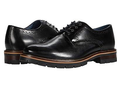 Johnston & Murphy Cody Plain Toe (Black Full Grain Leather) Men