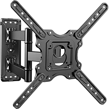 PERLESMITH Heavy Duty TV Wall Mount for Most 32-55 Inch Flat Curved TVs with Swivels Tilts & Extends - Full Motion TV Mount Fits LED, LCD, OLED 4K TVs Up to 88 lbs Max VESA 400x400
