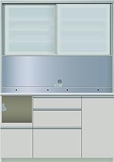 パモウナ 食器棚IE シルキーアッシュ 幅140×高さ198×奥行50 日本製 IEL-1400R
