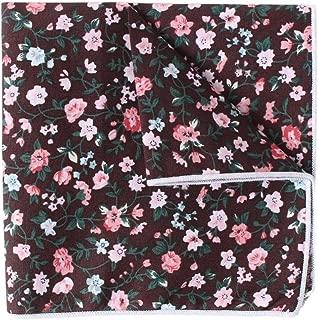 Men's Pocket Square Cotton Floral Printed Formal Handkerchief