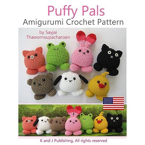 Amazon Com Puffy Pals Amigurumi Crochet Pattern Easy Crochet Doll