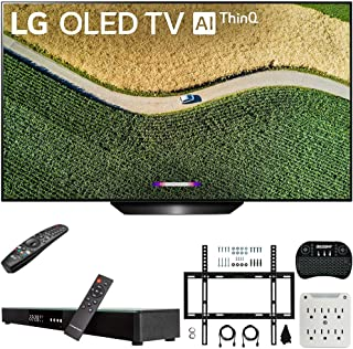 """LG OLED65B9PUA B9 65"""" 4K HDR Smart OLED TV with AI ThinQ (2019) Bundle with Deco Gear Home Theater Soundbar, Flat Wall Mount Kit, Wireless Keyboard and 6-Outlet Surge Adapter with Night Light"""
