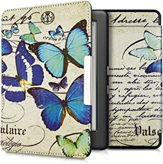 kwmobile Case for Kobo Glo HD/Touch 2.0 - Book Style PU Leather Protective e-Reader Cover Folio Case - Blue/Mint/Beige