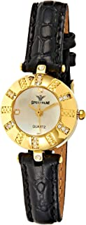 Spectrum Women White Leather Band Watch - 92662LL-2