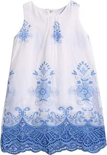 2019 Baby Girls Cute Princess Summer Lace Dress Sleeveless Embroidery Fresh Style Dresses