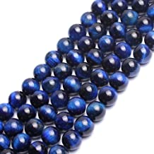 AAA Blue Tiger Eye Gemstone Round Loose Beads for Jewelry Making Findings Accessories 15 inches (8mm)