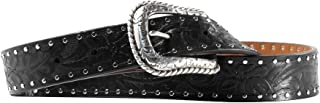 ARIAT Women's Floral Embossed Nail Edge Belt