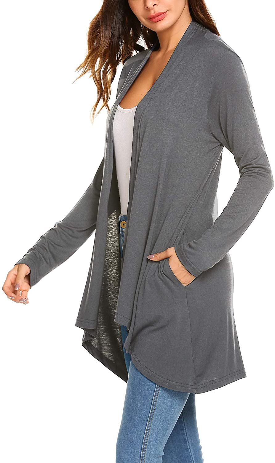 Women's Casual Long Sleeve Max 62% OFF Open Lightweight Drape Front Cardigan 25% OFF