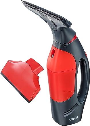 Vileda Windomatic PowerAspirateur de fenêtre avec double puissance d'aspiration Couleur noire 15x27x33.5 cm rouge/noir