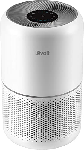 LEVOIT Air Purifier for Home Allergies Pets Hair Smokers in Bedroom, H13 True HEPA Air Purifiers Filter, 24db Quiet A...