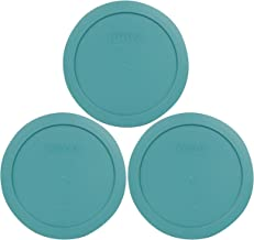 Pyrex 7201-PC Round 4 Cup Storage Lid for Glass Bowls (3, Turquoise)