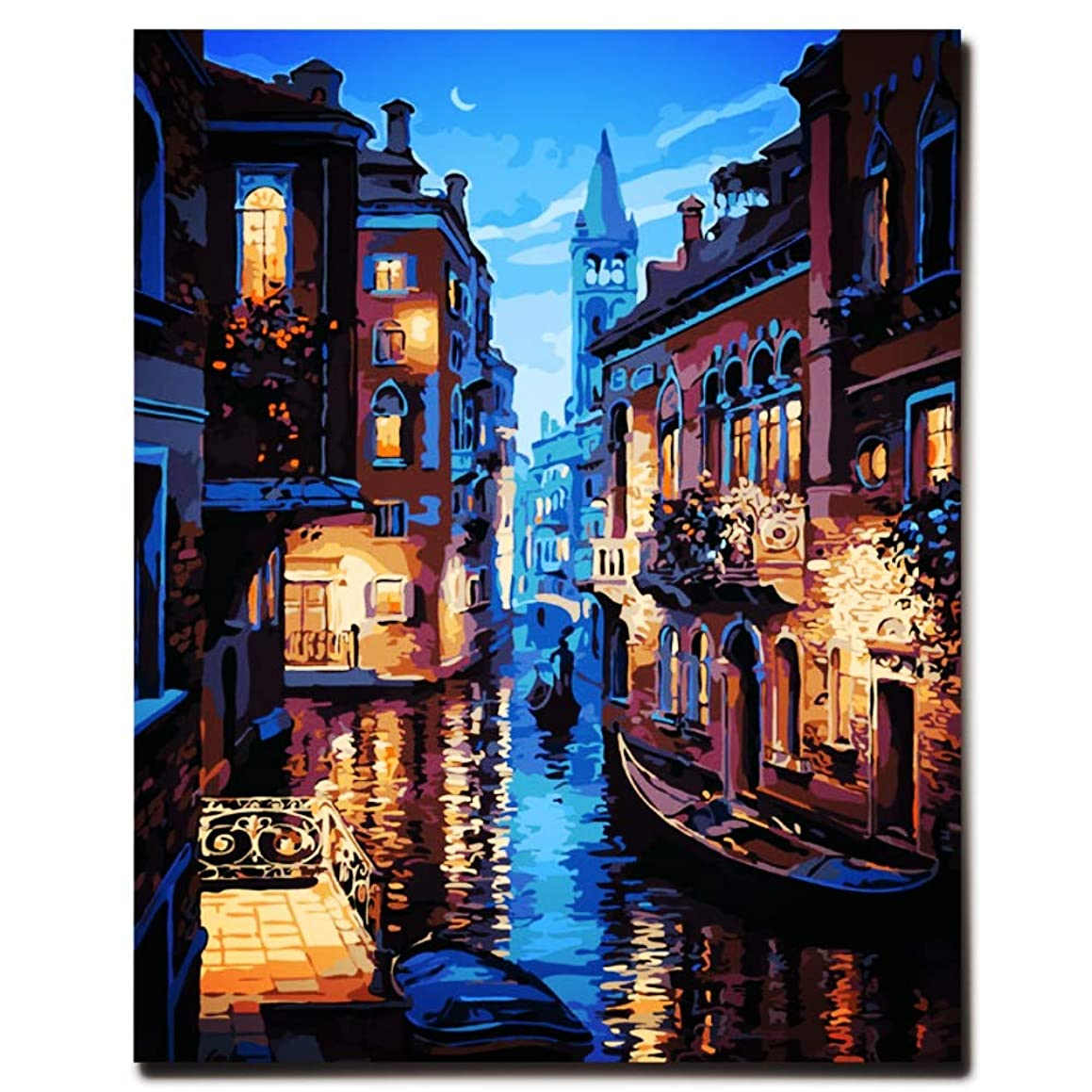 New Arrival DIY Oil Painting by Numbers Kit Theme PBN Kit for Adults Girls Kids White Christmas Decor Decorations Gifts - 6127 (with Frame)