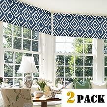 Flamingo P Rod Pocket Window Curtain Valances, Kitchen/Bedroom/Living Room Valances for Windows, Energy Saving Thermal Insulated Printed Valances Set (52