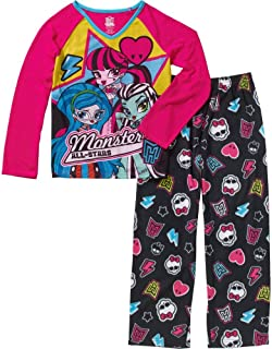Monster High Girls' 2 Piece Monster All-Stars Long Pajama Set