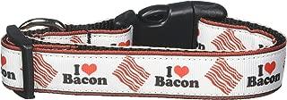 Mirage Pet Products I Love Bacon Nylon Dog Collars, Medium