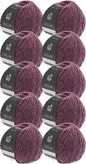 Lana Grossa Cool Air Color 07 Lot de 10 pelotes de laine mérinos avec alpaga 500 g pour tricot ou crochet