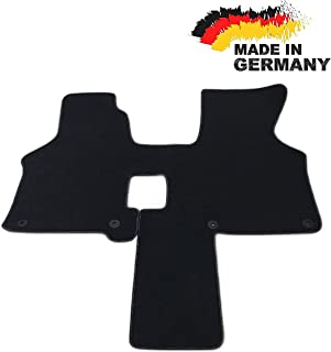 Car Styling Premium Fußmatte T4 2 Sitzer Schaltgetriebe Fahrerhaus Velours ANTHRAZIT Nubuk Umrandung