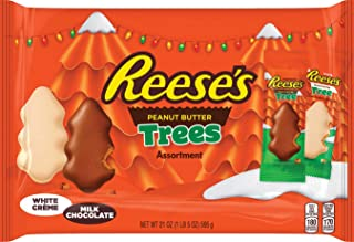 REESE'S Peanut Butter Trees for Holiday Season, Festive Holiday Chocolate Candy for Parties, Gift Bags and Baskets, 10.8 oz. bag