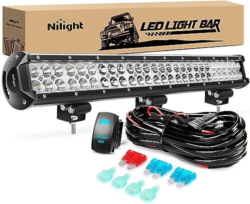 lowest Nilight LED Light Bar 25Inch 162W lowest Spot Flood Combo Led Off Road Lights 12V 5Pin Rocker Switch LED Light Bar Wiring Harness Kit, 2 Years online sale Warranty (ZH081) online sale