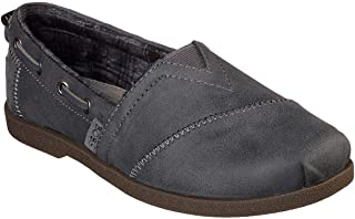 Skechers Bobs Chill Luxe Buttoned Up Womens Alpargata Flats Gray 7 W