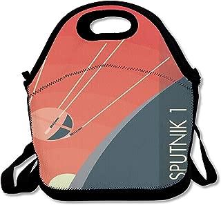 Sputnik 1 Poster Lunch Bag Custom Bento Box Picnic Cooler Bag Lunch Tote Bag For Women Men
