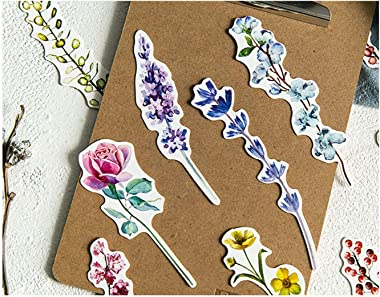 Colorful Flower Bookmarks, 30 PCS (Unknown Flower)