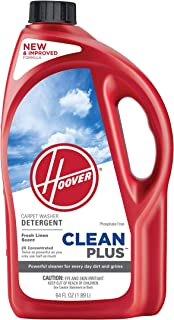 Hoover CleanPlus Concentrated Solution Formula Carpet Cleaner and Deodorizer, 64 oz, AH30330NF, Red,