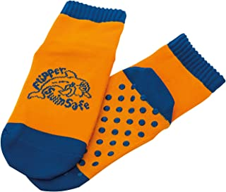 Flipper SwimSafe Aquasokken, Met Anti-Slip Zool, Blauw/Oranje