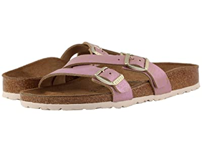 Birkenstock Yao (Washed Metallic Pink Leather) Women