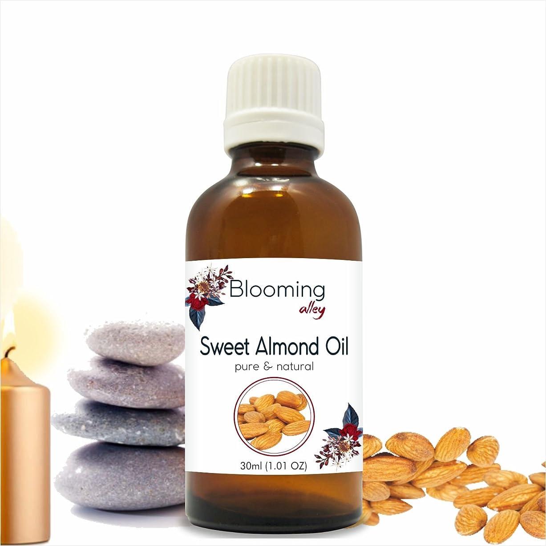 独立呼びかける離れたSweet Almond Oil (Prunus Amygdalus) Carrier Oil 30 ml or 1.0 Fl Oz by Blooming Alley