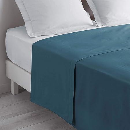 douceur d'intérieur 1642666 Drap, Bleu Nuit, 180 x 290 cm