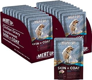 Meat Up Chicken Gravy Supplement, Skin+Coat- 80g, Pack of 10 ( Buy 1 Get 1 Free)