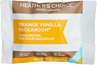 Heather's Choice Packaroons, Orange Vanilla, Wholesome, Gluten-Free, Allergen-Friendly Coconut Cookies for Backpacking, Camping, Hunting and Travel