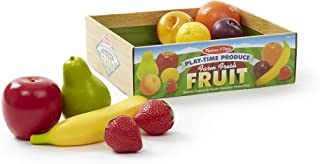 Melissa & Doug Playtime Produce Fruits Play Food Set With Crate (9 pcs)