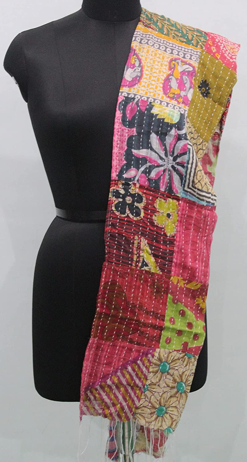 Vintage Kantha Sari Fort Worth Mall Factory outlet Scarves Patchwork Fashion Multicolor Accesso