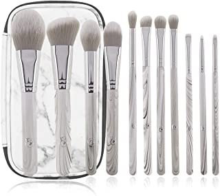 ENERGY Makeup Brush Set Marble Premium Synthetic 11PCs High End Make up Brushes Kit For Powder Contour Foundation Eyebrow Eye shadow with Case