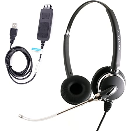Voice Tube Mic USB Headset Built in GN netcom Quick Disconnect for Skype, Cisco Jabber, Avaya One-X Agent, 3CX VoIP softphones.