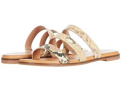 Madewell Ilana 3 Strap Slide Sandal in Snake Embossed Leather