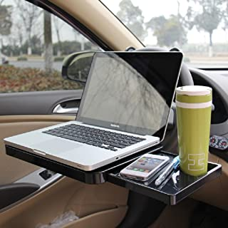 Slience Shopping Multi-Functional Car Vehicle Seat Portable Foldable Car Seat Back Pc Mount Tray Black Table Laptop Notebook Desk Table Car Dining Food Drink Desk Cup Holder