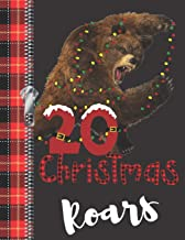 20 Christmas Roars: Lumberjack Plaid Blank Holiday Doodling & Drawing Art Book Brown Bear Sketchbook Journal For Young Men And Woman