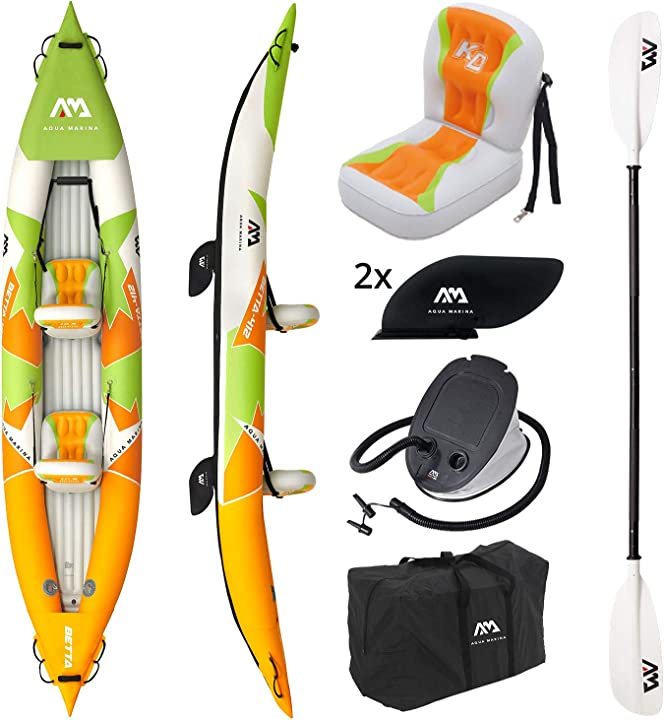 "Kayak gonfiabile a 2 posti in set betta-412 2020 13`6 ""canoa kayak per 2 persone a 2 posti con pagaia, BE-412"