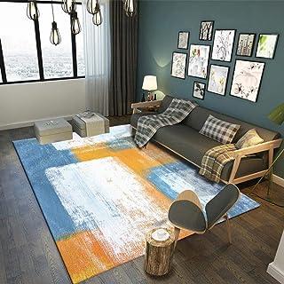 Tapis Salon Grand,Tapis Chambre Adulte Longs, Huile Abstraite Bleue Chambre d'enfants, Grand Tapis pour la décoration de l...