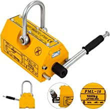 Happybuy Steel Magnetic Lifter 2200 LB Metal Lifting Magnet 1000 KG Neodymium Magnetic Lift Hoist Shop Crane(1000KG)
