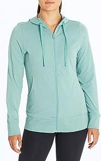 Marika Front Zip Jersey Hooded Jacket, Heather