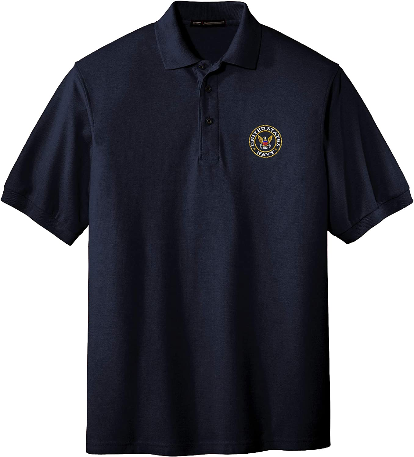 Spiffy Custom Gifts Mens U.S. Navy Embroidered sale Logo Shirt Polo Selling and selling