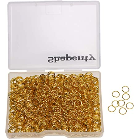 All Different Sizes in Listing 6mm 100 x Gold Strong Gauge Plated Jump Rings Closed but unsoldered