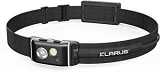 klarus HR1 Plus 600 Lumens Ultra-Slim Running Headlamp, USB C Rechargeable CREE Led Headlamp with Red Light, Great for Tra...