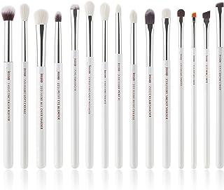 Jessup 15Pcs Pearl White/Silver Professional Makeup Brushes Set Make up Brush Tools kit Cosmetics Tools Eye Liner Shader W...