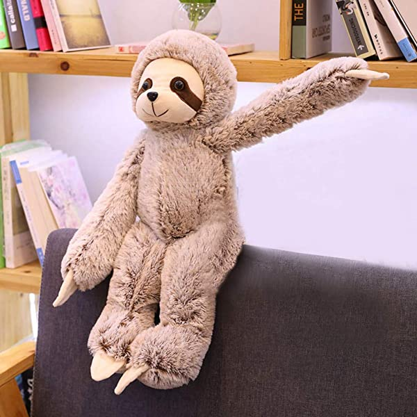 Karooch Cute Sloth Shape Plush Doll Toy Different Size Stuffed Animal Table Car Sofa Pillow Ornaments For Home Decor Birthday Gift